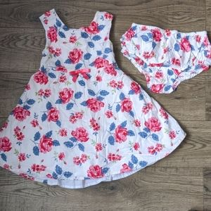 Floral print dress and matching underpants